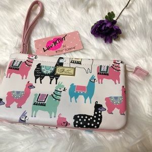 Luv Betsy by Betsy Johnson Double Pouch Wristlet